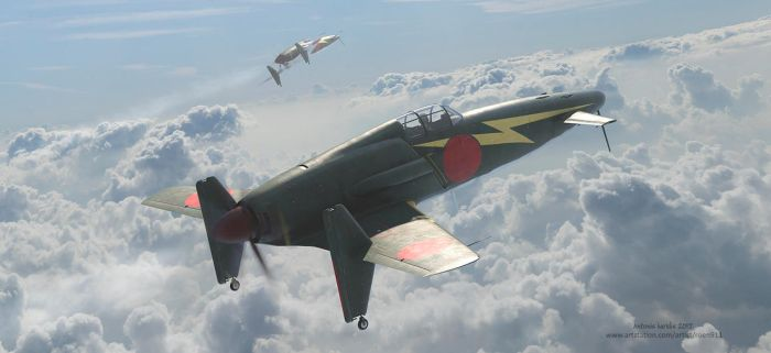 Kyushu J7W Shinden (Magnificent Lightning) by rOEN911