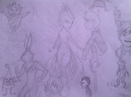 Rise of the Guardians doodles by MiuNyankoDesu