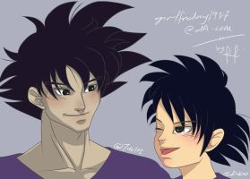 CP: Turles and Akio by FryFridaY