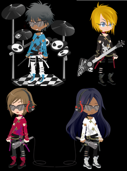 4 Derps In A Rock Band by SpazzDemon25