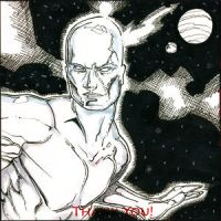 Silver Surfer Sketchbk Drawing by RichardCox