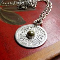Celtic Necklace with Unakite by che4u