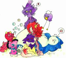 My pokemans.. by tabbykit