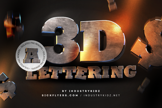 Free 3D Lettering Pack by Industrykidz by DesignerCandies