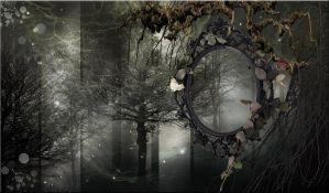 GREY FOREST PREMADE BACKGROUND by VaL-DeViAnT