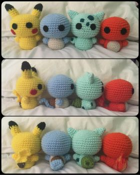 Kanto starters +1 by bumblebee5757