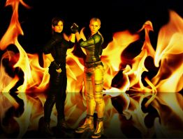 Jill And Claire 'Girl Power' by EpitaphOfTwilightCe