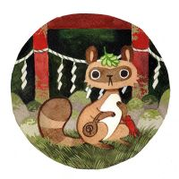Shrine Tanuki by heikala