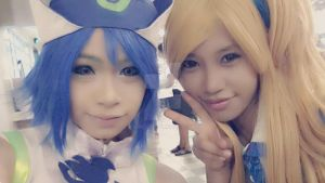 Juvia n Lucy on Animax Asia 2014 by Vinca