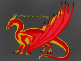 Wings of Fire: Draco Draconis the SkyWing by ShardianofWhiteFire