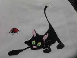 Cat cross stitch by Nenetchy