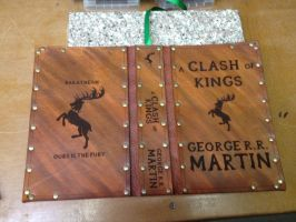 Leather cover for a Clash of Kings by Photoguy42