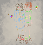 Chara n Frisk (wip) by THELuckyKero