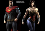 Superman and Wonder Woman by WOLFBLADE111