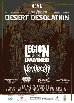 Legion Of The Damned Poster Priest-01 by VisionArmy