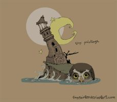 where owls go. by TinyPainter