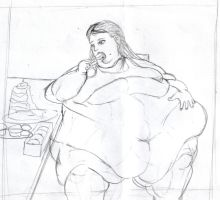 Sketch: Eating sideways by koudelka2005