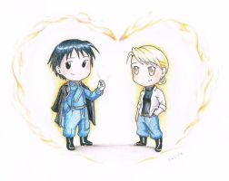 Valentine Chibis_ Roy and Riza by vasira