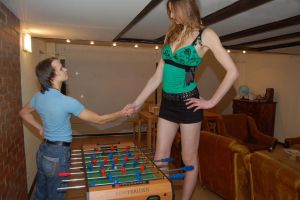 Baltic tall girl foosball by lowerrider
