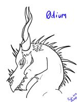 Odium Bust -Lineart- by Wolf-mutt