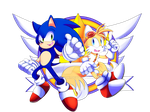 Com: Sonic and Tails by Pyon-Suki