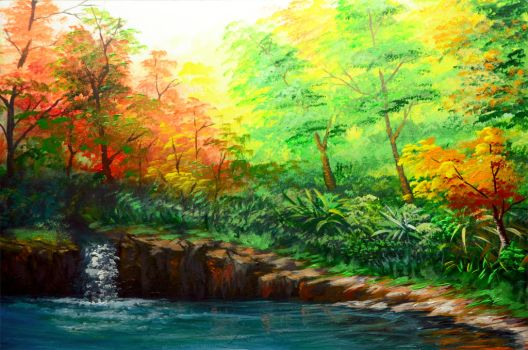 ACRYLIC PAINTING 23 PART 2 by beejay-artlife12