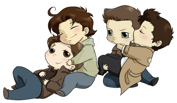 Supernatural chibi commission by DeanGrayson