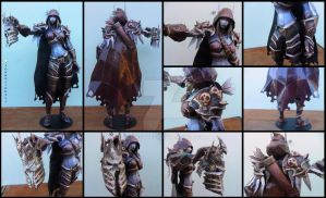 World of Warcraft - Sylvanas with Arthas Helmet by alicestuff