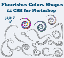 Flourishes Colors Shapes by jojo-ojoj