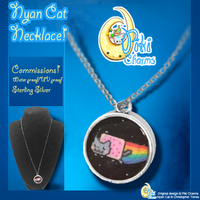 PikiCharms Nyan-Cat Necklace COMMISSIONS by DrawWithLaura