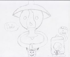 Lampent and Litwick Halloween by NinjaKirby144
