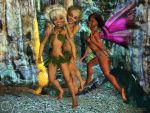 Wood elves and little fairy by Cyberalbi