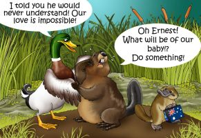 How the platypus came to be... by Felipenn