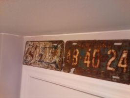 weathered license plates by USCGCitasca