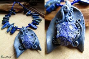 Lapis Queen necklace by SuvetarsWell