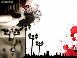 Cityscape Murmurs of Hate by emodist