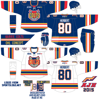 Barrie Colts Concept 2015 by AJHFTW