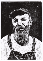Seasick Steve [Lino cut] by JackSephton