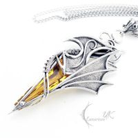 AXGHASTHAR - silver and citrine by LUNARIEEN