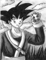 Goku carboncillo by ArGe