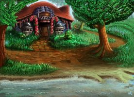 Dumblesmores cottage by Zen-Gardener