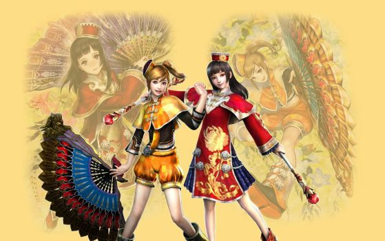 Dynasty Warriors - Qiao Sisters by Axel-Vampire