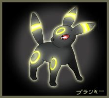 Umbreon, flash by Wakki