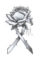 Cancer Ribbon Rose Design by NDC13
