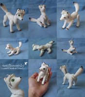 Arctic Fox Doll - Commission by vonBorowsky