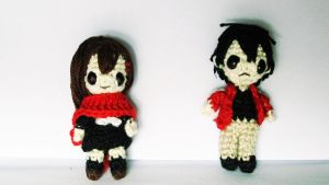 Kagerou Project Amigurumi (Ayano and Shintaro) by OhYeahLunacchi
