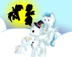 Snowpony by bookfangeek