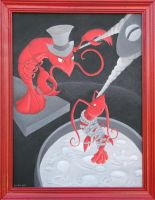 Lobster Drama - Final painting by tursiart