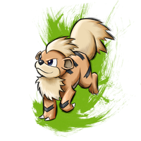 Growlithe by Raiba-art