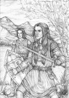 Maedhros and Maglor by lomehir